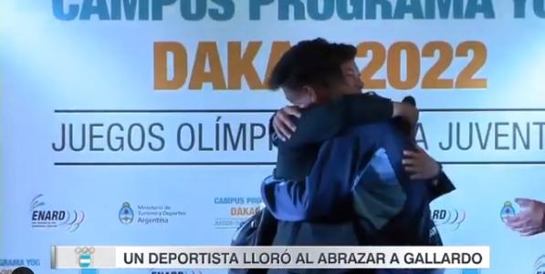 Ramiro Sancer, el deportista tunuyanino que lloró al abrazar a Gallardo, su máximo ídolo