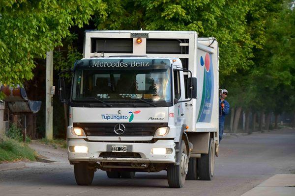 Tupungato recuerda a los vecinos los días y horarios de recolección de residuos domiciliarios
