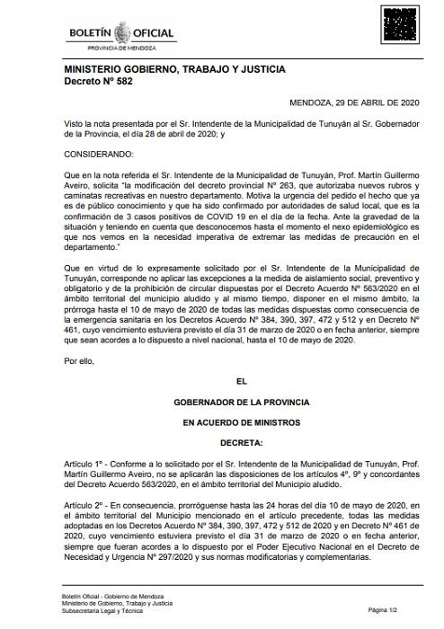 Decreto-582