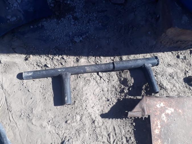 """La Policía encontró un arma """"tumbera"""" en el techo de una vivienda en Tunuyán"""