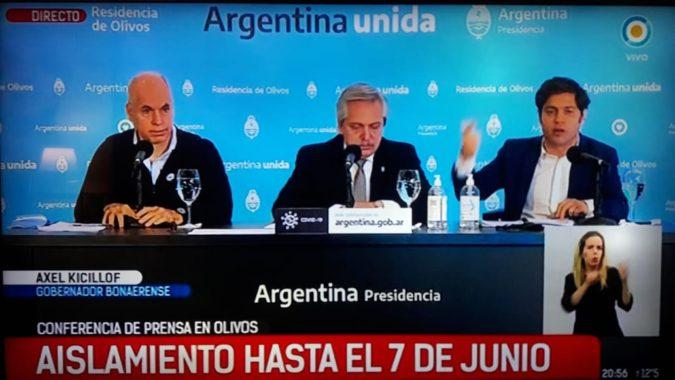 """La cuarentena se extendió hasta el 7 de junio: """"Vamos a abordar el problema donde está"""""""
