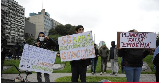 Incidentes en la movilización que se realizó en el Obelisco para reclamar el fin de la cuarentena