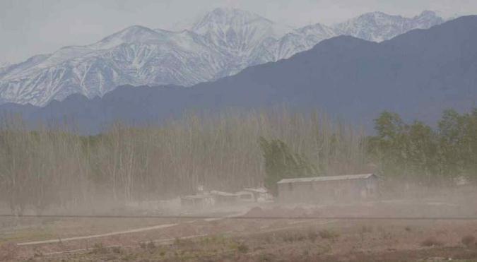 El Servicio Meteorológico emitió un nuevo alerta por vientos intensos en Mendoza