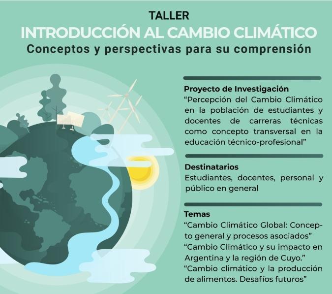 El IES 9-015 dará un taller virtual sobre cambio climático