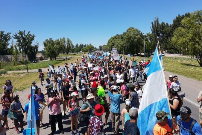 Un día como hoy, hace un año, partía desde San Carlos la histórica marcha en defensa de la 7722