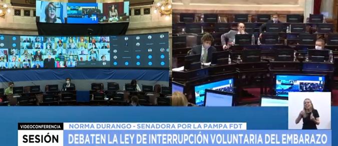 El Senado debate el aborto: se acordó una corrección y se espera una sesión de casi 13 horas