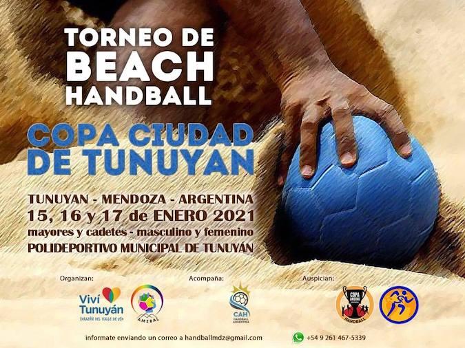 """Se lleva adelante este fin de semana el Torneo de Beach Handball """"Copa Ciudad de Tunuyán"""""""