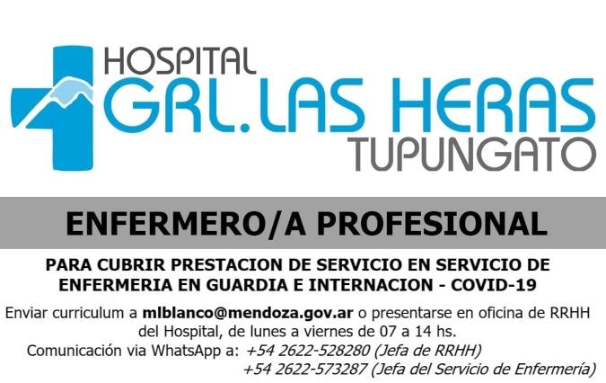 hospital-las-heras-busca-enfermeros