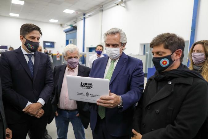 Alberto Fernández anunció la entrega de netbooks para estudiantes de secundaria de todo el país