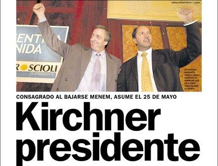 Efemérides: hace 18 años, Menem renunciaba al ballotaje y Kirchner se convertía en presidente