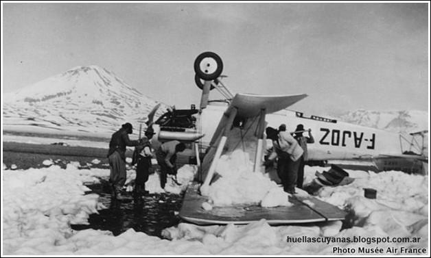 91 años del accidente de Henri Guillaumet en la Laguna del Diamante: lo salvó un puestero de 15 años