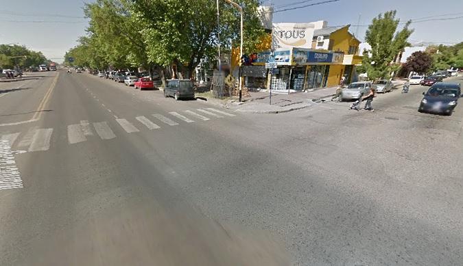 Accidente de tránsito en el centro de Tunuyán dejó a una joven lesionada