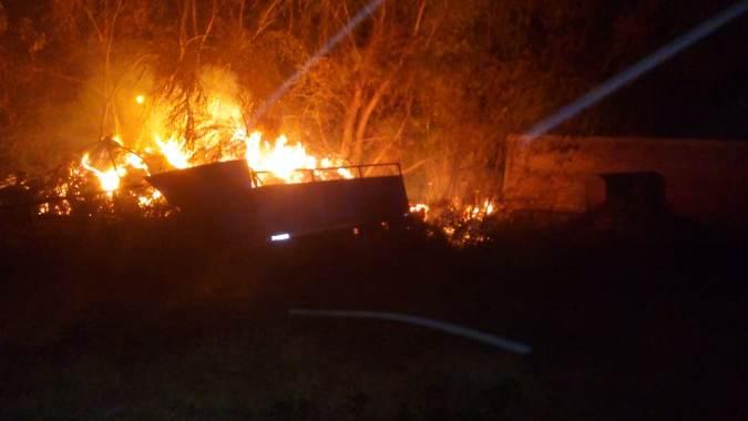 Un incendio en San Carlos demandó cerca de 16 mil litros de agua para ser sofocado