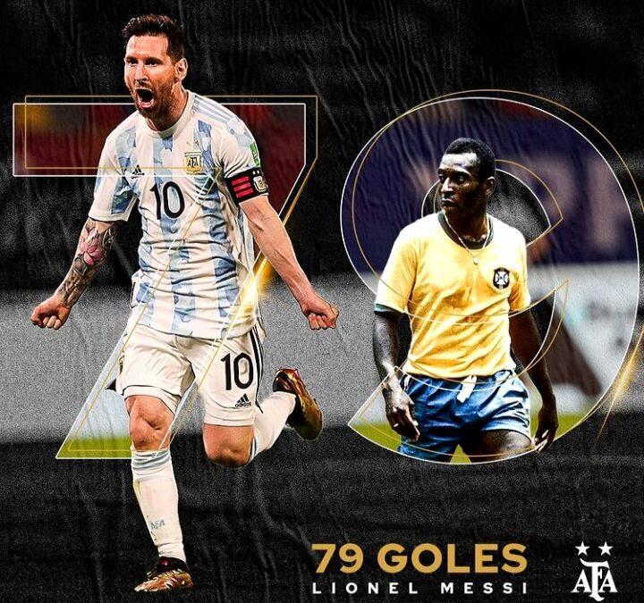 Messi superó el récord de Pelé como máximo goleador en selecciones sudamericanas