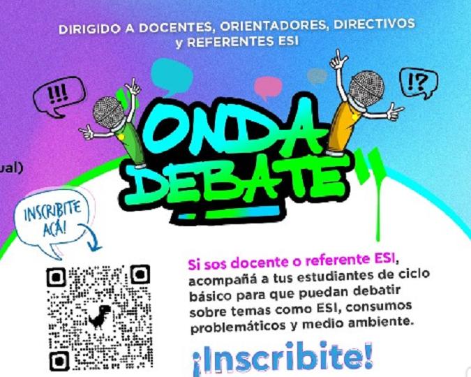 Educación: la DGE invita a inscribirse al programa Onda Debate