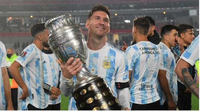 """Argentina, la vuelta olímpica y Messi, entre lágrimas: """"Esperé esto hace mucho tiempo"""""""