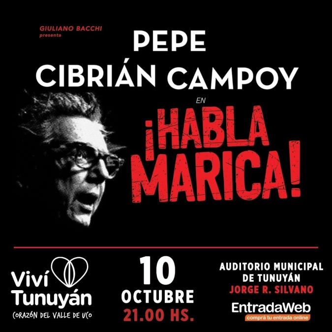 ¡Imperdible! Pepe Cibrián llega a Tunuyán con un magistral unipersonal sobre García Lorca