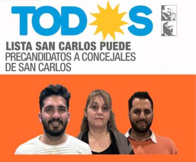 En San Carlos gana el Frente de Todos con más del 44%: hay pelea en el tercer lugar