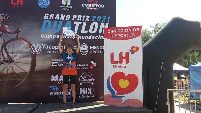 El tunuyanino Santiago López hizo podio en la primera fecha del Duatlón de Mendoza