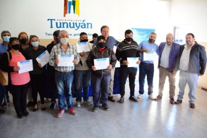 Entrenamiento laboral en Tunuyán: el Municipio incorpora 28 personas con discapacidad